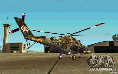 Mi-24 para GTA San Andreas vista direita