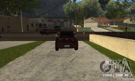 Fiat Novo Uno Sporting para GTA San Andreas traseira esquerda vista