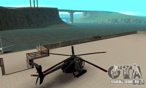 AH-6C Little Bird para GTA San Andreas traseira esquerda vista