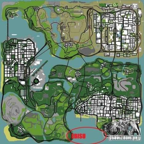 The Ebisu South Circuit para GTA San Andreas décimo tela