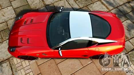 Ferrari 599 GTO 2011 para GTA 4 vista direita