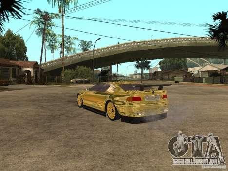 BMW M3 Goldfinger para GTA San Andreas esquerda vista