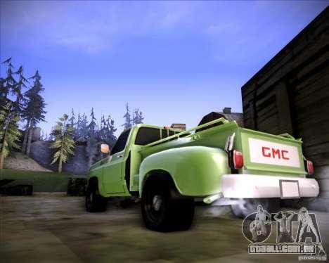 GMC 80 para GTA San Andreas traseira esquerda vista