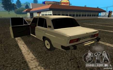 VAZ 2106 v. 2 para GTA San Andreas traseira esquerda vista