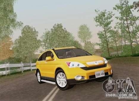 Honda CRV 2011 para vista lateral GTA San Andreas