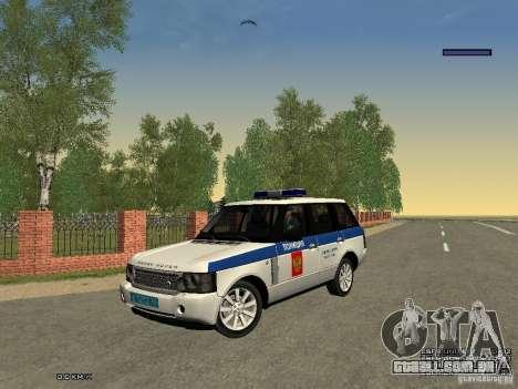 Range Rover Supercharged 2008 polícia departamen para vista lateral GTA San Andreas