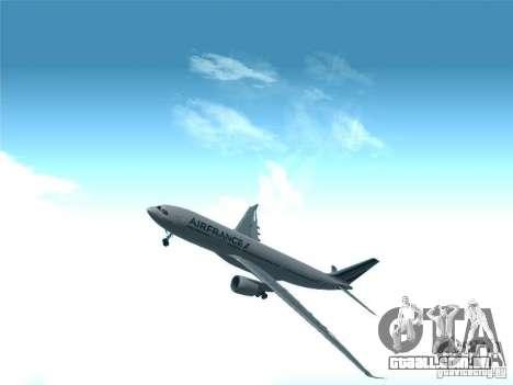 Airbus A330-200 Air France para vista lateral GTA San Andreas