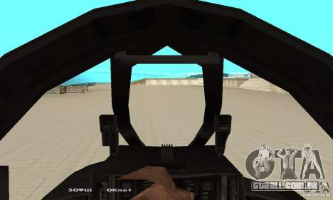 F14W Super Weirdest Tomcat Skin 1 para GTA San Andreas vista traseira