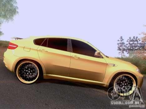 BMW X6M Hamann para GTA San Andreas vista traseira