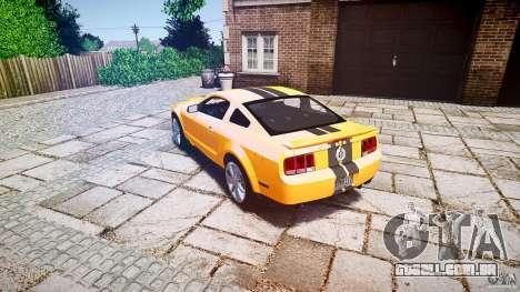 Shelby GT 500 KR 2008 K.I.T.T. para GTA 4 traseira esquerda vista