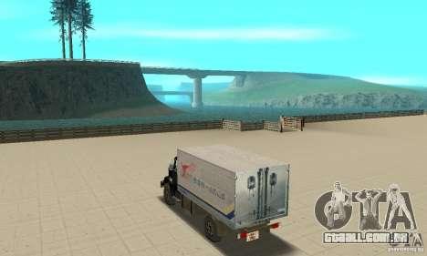 ZIL 433112 com tuning para GTA San Andreas traseira esquerda vista