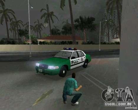 Ford Crown Victoria 2003 Police para GTA Vice City deixou vista
