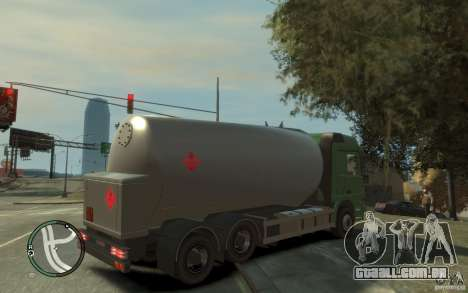 Mercedes Benz Actros Gas Tanker para GTA 4 vista inferior