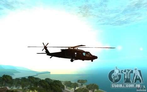 MH-60L Blackhawk para GTA San Andreas traseira esquerda vista