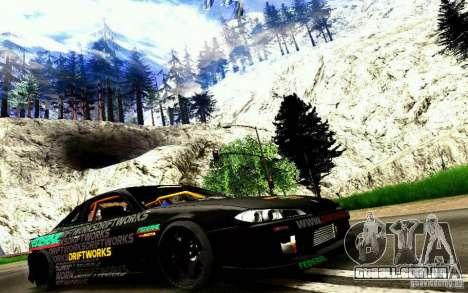 Nissan Silvia S15 Drift Works para GTA San Andreas vista traseira