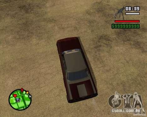 Mercury Mascarpone para GTA San Andreas traseira esquerda vista