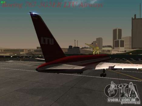 Boeing 767-3G5ER LTU Airways para GTA San Andreas vista direita