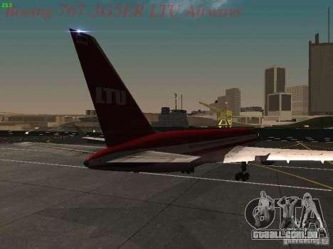 Boeing 767-3G5ER LTU Airways para GTA San Andreas vista direita