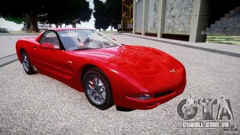 Chevrolet Corvette C5 v.1.0 EPM para GTA 4 vista de volta