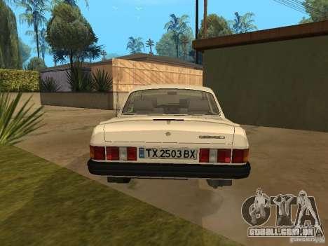 Volga GAZ 31029 para GTA San Andreas traseira esquerda vista