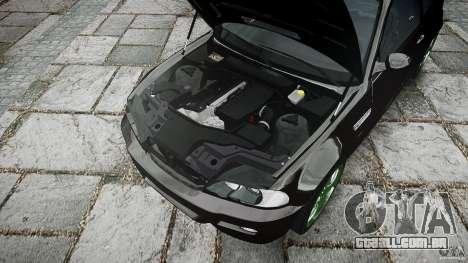 BMW M3 e46 2005 para GTA 4 vista inferior