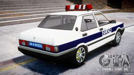 Tofas Sahin Turkish Police v1.0 para GTA 4 vista interior