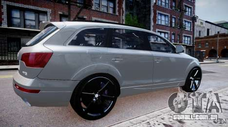 Audi Q7 LED Edit 2009 para GTA 4 esquerda vista