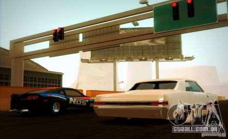 Pontiac GTO Drag Shark para GTA San Andreas vista traseira