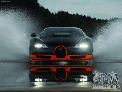 Carregamento telas Bugatti Veyron para GTA San Andreas