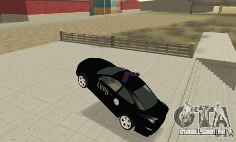 Pontiac GTO 2004 Cop para GTA San Andreas vista traseira