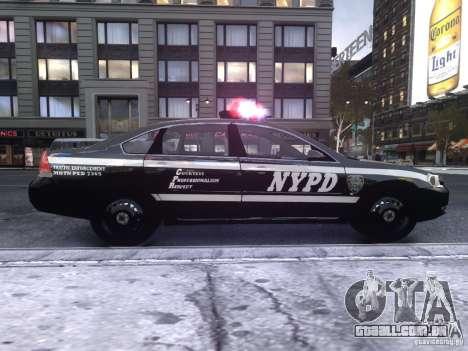 Chevrolet Impala 2006 NYPD Traffic para GTA 4 traseira esquerda vista