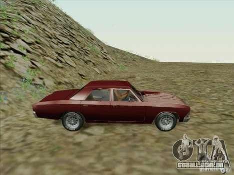 Chevrolet Chevelle para GTA San Andreas esquerda vista