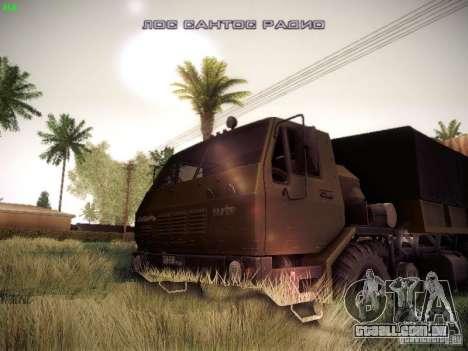 KrAZ 6316 para GTA San Andreas vista traseira