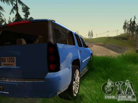 GMC Yukon Denali XL para GTA San Andreas vista inferior