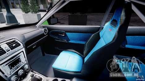 Subaru Impreza STI Wide Body para GTA 4 vista de volta