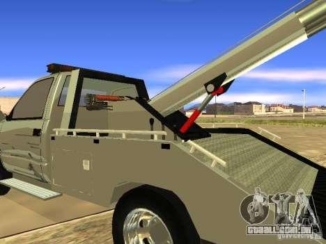 GMC Sierra Tow Truck para GTA San Andreas vista direita