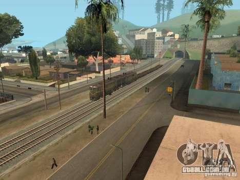 2te10l locomotiva diesel para GTA San Andreas vista traseira