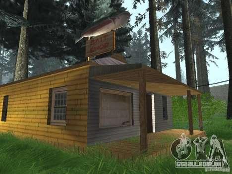 Aldeia de Angel Pine modificada para GTA San Andreas quinto tela