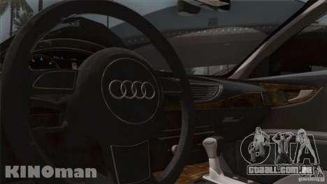 Audi A7 Sportback 2010 para GTA San Andreas vista interior