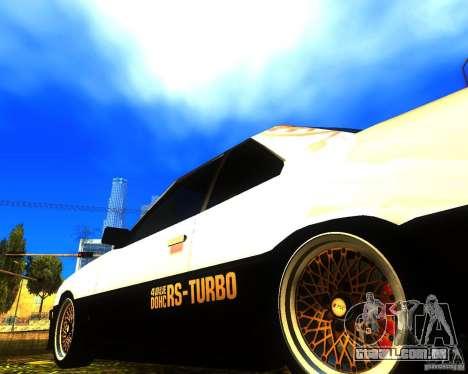 Nissan Skyline RS TURBO (R30) para GTA San Andreas vista direita