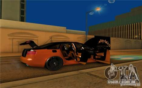 Audi RS6 Black Edition para GTA San Andreas vista direita