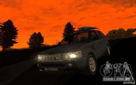 Land Rover Range Rover para GTA San Andreas vista interior