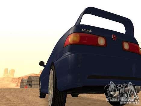 Acura RSX Light Tuning para GTA San Andreas traseira esquerda vista