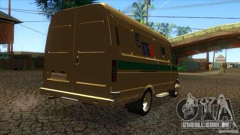 Serviços de transporte de gazela 2705 para GTA San Andreas vista direita