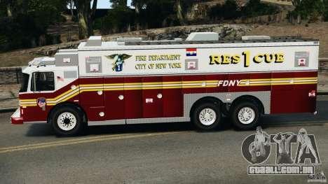 FDNY Rescue 1 [ELS] para GTA 4 esquerda vista
