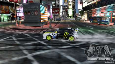 Subaru Impreza WRX STI Rallycross Monster Energy para GTA 4 vista lateral
