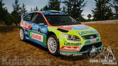 Ford Focus RS WRC para GTA 4 vista inferior
