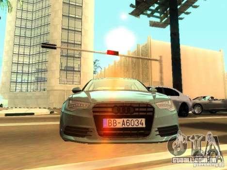 Audi A6 Stanced para GTA San Andreas traseira esquerda vista