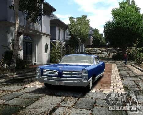 Pontiac Bonneville 1966 para GTA 4 vista de volta