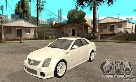 Cadillac CTS-V 2009 v2.0 para GTA San Andreas